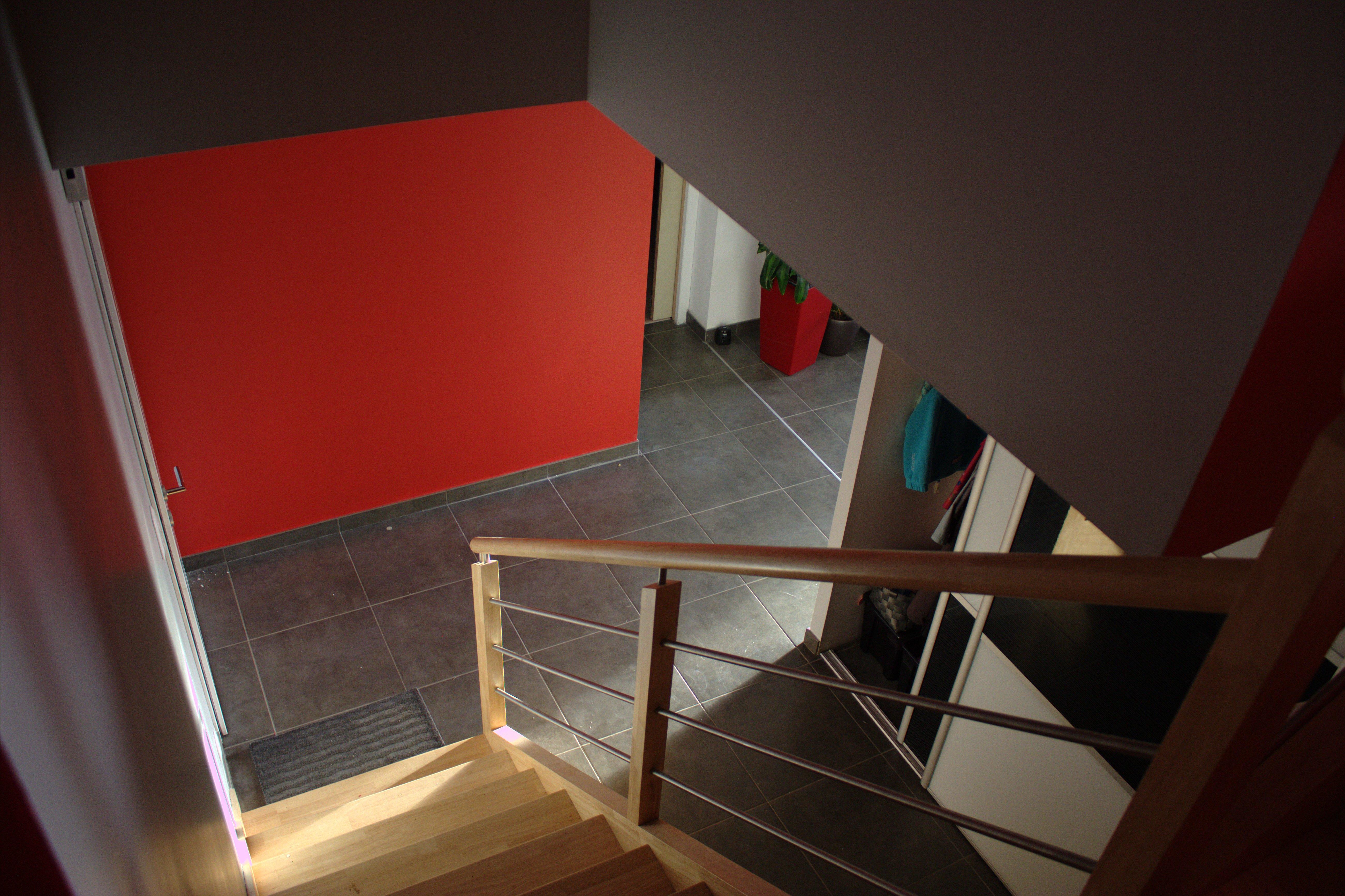 Exemple de cage d 39 escalier for Peinture v escalier